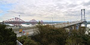 North Queensferry - The Forth Bridges from North Queensferry