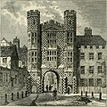 The Holbein Gateway, Whitehall, from a Drawing by George Vertue c.1747 (1873) (14597844800).jpg