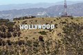 The Hollywood sign is a landmark and American cultural icon located in Los Angeles, California LCCN2013632715.tif