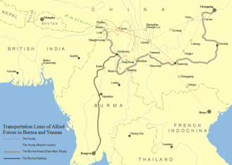 Burma Road - Transportation of Allied Forces in Burma and southwestern China including the Burma Road
