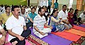 The Minister of State for Minority Affairs (Independent Charge) and Parliamentary Affairs, Shri Mukhtar Abbas Naqvi performing Yoga, on the occasion of the 3rd International Day of Yoga – 2017, at Noida on June 21, 2017.jpg