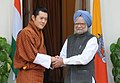 The Prime Minister, Dr. Manmohan Singh meeting the King of Bhutan, HM Jigme Khesar Namgyel Wangchuck, in New Delhi on December 22, 2009.jpg