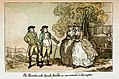 The Renconire with female friends on our arrival at Lymington (caricature) RMG PW4944.jpg