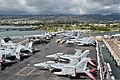 The aircraft carrier USS Ronald Reagan (CVN 76) moors at Joint Base Pearl Harbor-Hickam, Hawaii, June 26, 2014, during exercise Rim of the Pacific (RIMPAC) 2014 140626-N-WO404-287.jpg