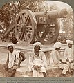 "The cannon, then on the grounds of the Lahore Museum, that figures in the opening scene of ""Kim"" (1901).jpg"