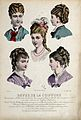 The heads and shoulders of five women with their hair combed Wellcome V0019889ER.jpg