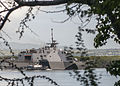The littoral combat ship USS Freedom (LCS 1) arrives at Joint Base Pearl Harbor-Hickam, Hawaii for a scheduled port visit during a deployment to the Asia Pacific region, March 11, 2013 130311-N-QG393-022.jpg