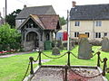 The lych gate and houses on The Street - geograph.org.uk - 1550497.jpg