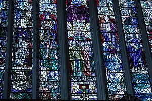 Douglas Strachan - The main east window of Paisley Abbey by Douglas Strachan (detail)