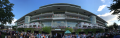 The rear of the grandstand before the Arlington Million at Arlington International Racecourse, Chicago, Illinois.png