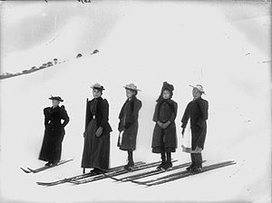 Kiandra, New South Wales - The Start of the Girls' Snowshoe Race