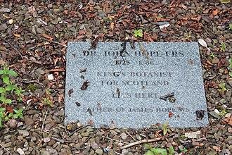 John Hope (botanist) - The tablet to John Hope, Greyfriars Kirkyard
