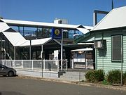 Thirroul railway station entrance