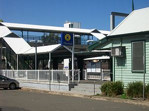 Thirroul, New South Wales - Entrance to the railway station