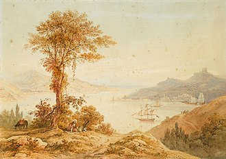 Thomas Allom - Image: Thomas Allom Ships on the Bosphorus at the Entrance to the Black Sea
