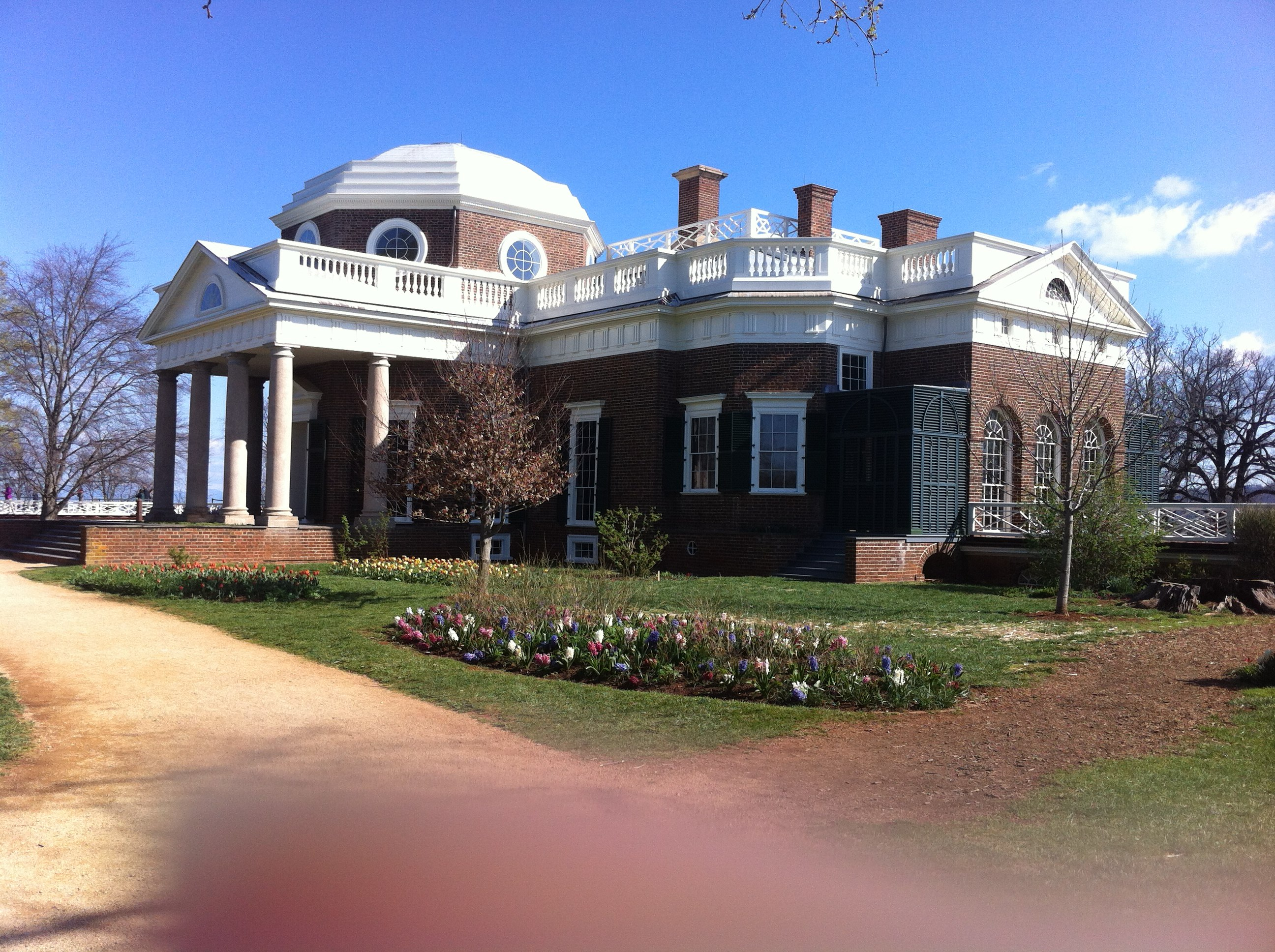 File Thomas Jefferson S House At Monticello From The Side Jpg
