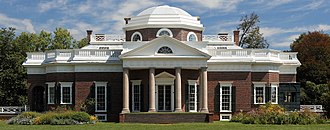 Monticello - Image: Thomas Jefferson's Monticello (cropped)