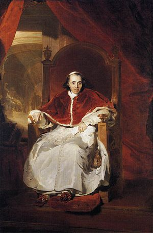 Pope Pius VII wearing papal slippers (1819, Th...