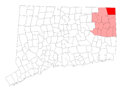 Location in Windham County, Connecticut