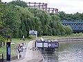 Three Mills Olympic water Chariots waterbus terminus (7741054288).jpg