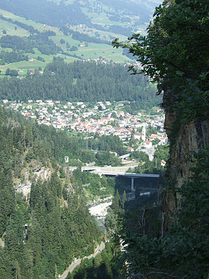 Thusis - Thusus from the Viamala canyon