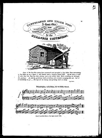 Tippecanoe and Tyler Too - A score of the song as published by G. E. Blake of Philadelphia, Pennsylvania.