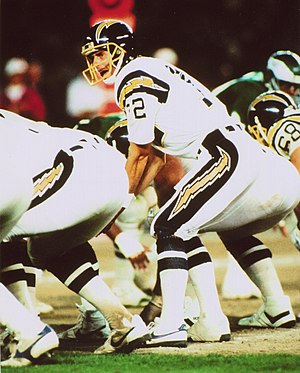 Tom Flick - Tom Flick Behind center of the San Diego Chargers