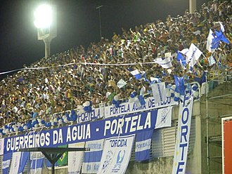 Portela (samba school) - Fans of GRES Portela cheering during parade