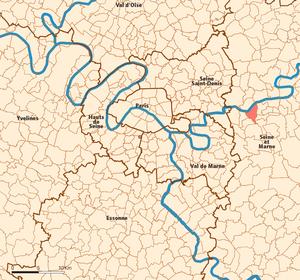 Torcy, Seine-et-Marne - Image: Torcy map