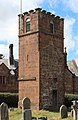 Tower of former church, St Bartholomew, Thurstaston 1.jpg