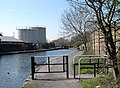 Towpath Barrier and Stourbridge Canal, West Midlands - geograph.org.uk - 389937.jpg