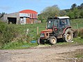 Tractor and barn in the Arigna valley - geograph.org.uk - 797932.jpg