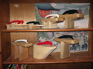 Geta (footwear) - Image: Traditional Japanese Footwear
