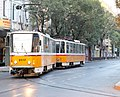 Tram in Sofia near Palace of Justice 2012 PD 001.jpg