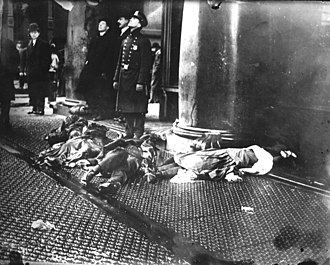Triangle Shirtwaist Factory fire - 62 people jumped or fell from windows