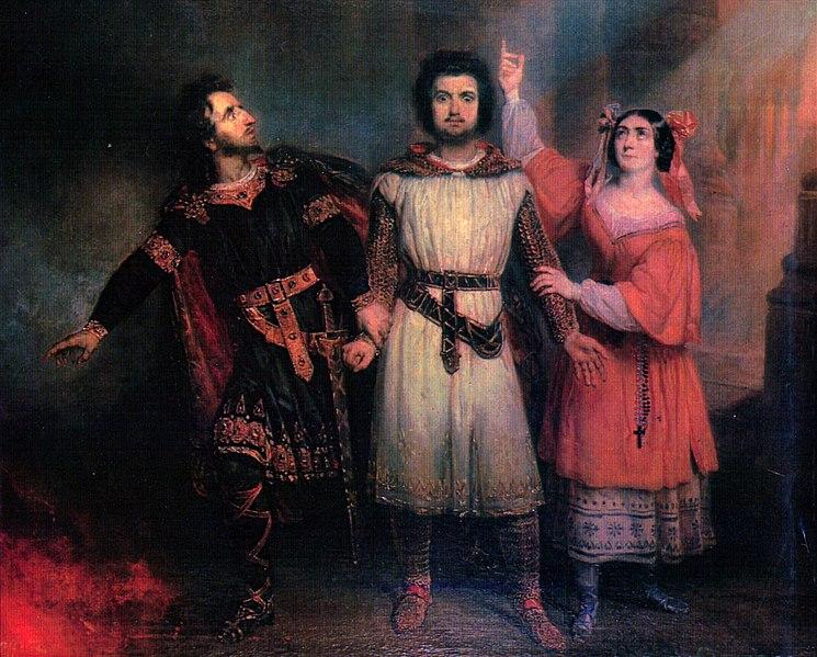 File:Trio act5 Robert le Diable by Meyerbeer - second painting by Lépaulle 1835 - Letellier 2012.jpg