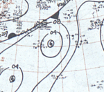 Tropical Storm Grace September 15, 1966 surface analysis.png