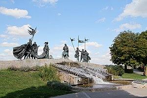 Tulln an der Donau - Nibelungen-Fountain