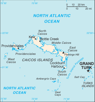 Turks and Caicos Islands-CIA WFB Map
