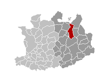 Location of Turnhout in the province of Antwerp
