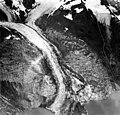 Tyeen Glacier, tidewater glacier terminus, icefall, and hanging glacier, September 17, 1966 (GLACIERS 5921).jpg