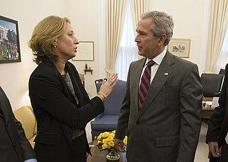 Tzipi Livni - Livni meets with President George W. Bush