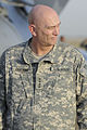 U.S. Army Gen. Raymond Odierno, commanding general of United States Forces-Iraq, waits at Sather Air Force Base, Iraq, to greet Vice President Joe Biden Aug. 30, 2010 100830-A-KU527-060.jpg
