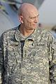 U.S. Army Gen. Raymond Odierno, commanding general of United States Forces-Iraq, waits at Sather Air Force Base, Iraq, to greet Vice President Joe Biden Aug. 30, 2010 100830-A-KU527-060.jpg