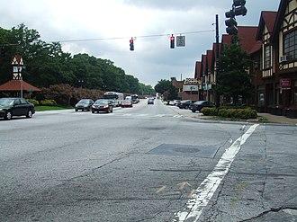 Georgia State Route 10 - US 278/SR 10 in Avondale Estates.