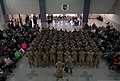 U.S. Soldiers assigned to Alpha Company, 1st Battalion, 187th Infantry Regiment, 3rd Brigade Combat Team, 101st Airborne Division stand in formation during a homecoming ceremony at Campbell Army Airfield, Fort 130201-A-DH135-004.jpg