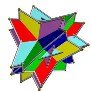 Uniform polyhedron compound - Image: UC01 6 tetrahedra