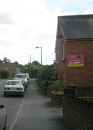 History of the UK Independence Party - UKIP poster in Egham, Surrey, for the 2009 European elections