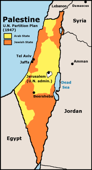 History of the State of Palestine - Map of the UN Partition plan