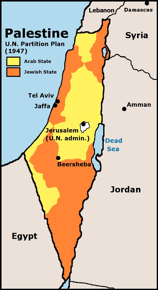 UN Partition Plan For Palestine 1947